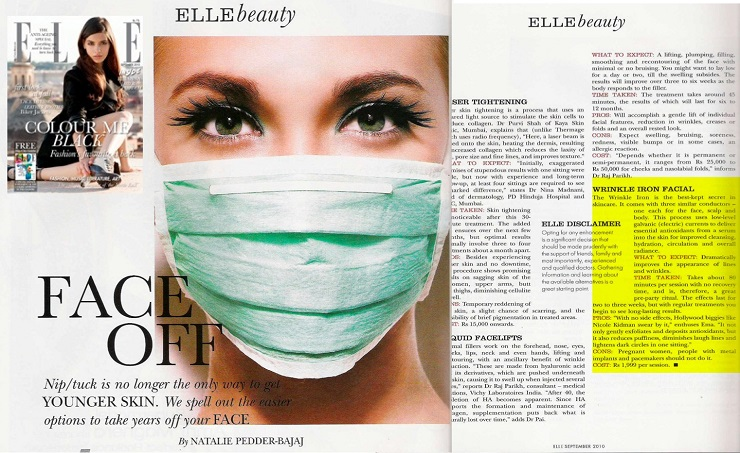 Elle Magazine Review - Wrinkle Iron 740PX